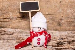 小的雪人 库存照片