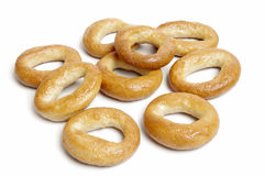 小的面包环形薄脆饼干 免版税库存图片