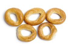 小的面包环形薄脆饼干 库存图片