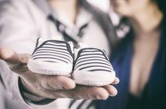 小的鞋子 库存照片
