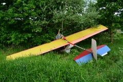 小的飞机失事 免版税库存照片