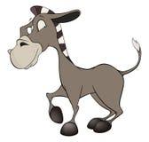 小的驮货驴子 动画片 免版税库存照片