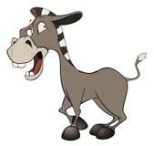 小的驮货驴子 动画片 库存图片