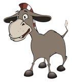 小的驮货驴子 动画片 免版税图库摄影