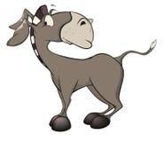 小的驮货驴子 动画片 库存照片