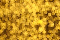 小的黄色Bokeh 图库摄影