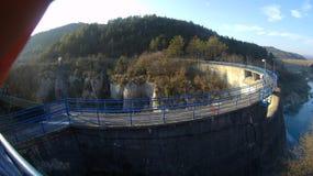 小的水坝 免版税库存图片