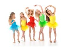 小的滑稽的跳芭蕾舞者 免版税库存照片