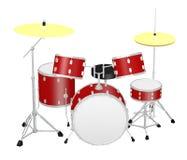 小的drumset 免版税库存照片