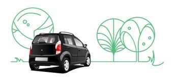 小的utilitie汽车 免版税库存图片