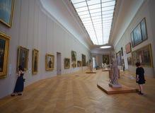小皇宫博物馆的内部看法,建立为1900年世界博览会在巴黎,法国 免版税库存照片