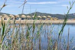 小盐水湖在希腊2 免版税库存照片