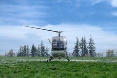 小直升机的乘客 免版税图库摄影
