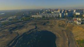 小省镇鸟瞰图在俄罗斯 股票录像