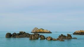 小礁在Iles de Chausey 免版税库存图片