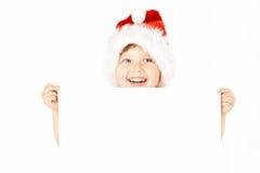 小笑的圣诞老人 库存照片