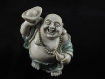小笑的汉语菩萨 库存图片