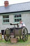 小第一次世界大战炮架 库存照片