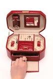 小箱红色 免版税图库摄影