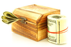 小箱货币 库存图片