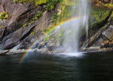 小精灵瀑布, Milford Sound 库存照片