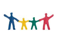 小系列的彩色塑泥 免版税库存图片