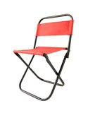 小红色折叠椅 库存照片
