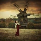 小红骑兜帽。童话 图库摄影