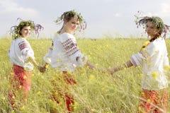 小组乌克兰人女孩 库存图片