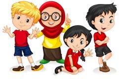 小组国际孩子 库存例证