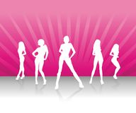 小组妇女 向量例证