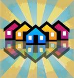 小组房子,邻里传染媒介 图库摄影