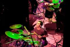 小组的音乐会制片者流行音乐, 2009年4月24日的香宾 免版税库存照片