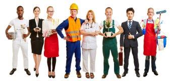小组职业介绍所的许多职业 免版税库存照片