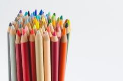小组色的铅笔,技巧 库存图片