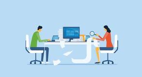 小组见面和为项目的企业队分析研究 库存图片