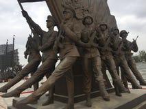 小组雕塑 免版税库存照片