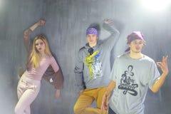 小组青年人是Hip Hop跳舞 库存图片