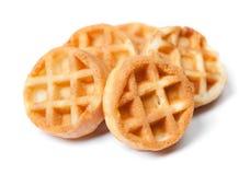 小组鲜美圆的微型奶蛋烘饼 免版税库存照片