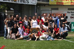 小组toulouges美国 免版税图库摄影
