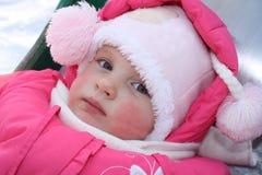 小美丽的女孩的纵向 免版税库存照片