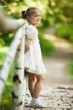 小美丽的愉快的女孩 库存照片