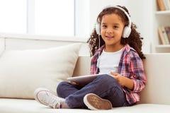 小美国黑人的女孩 免版税库存图片