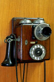 小老的电话 免版税库存照片