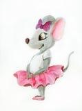 小老鼠芭蕾舞女演员 免版税库存图片