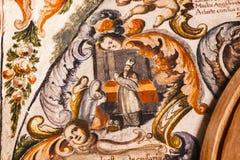 小耶稣耶稣Atotonilco墨西哥壁画圣所  库存照片