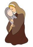 小耶稣・玛丽 皇族释放例证
