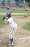 小职业棒球联盟球员 库存照片