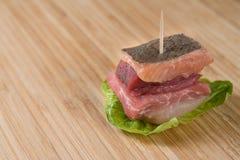 小肉三明治 免版税库存图片