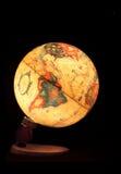 小背景黑色的地球 免版税图库摄影